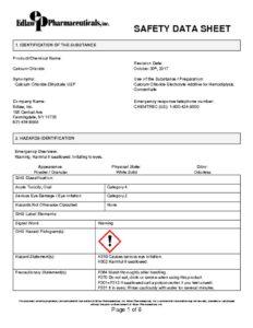thumbnail of Edlaw_Calcium Chloride SDS