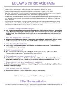 thumbnail of Citric Acid FAQ's